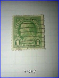 1 Cent Benjamin Franklin Green Stamp Used Rare