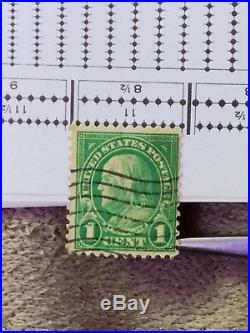 1 Cent Green Ben Franklin STAMP PostPOSSIBLY Scott 594 Or 596
