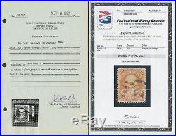 #110 30¢ 1875 Re-issue F-vf Used Gem Pf / Pse Reg Cnl 21 Exist CV $25k Wlm5146