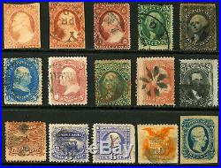 #11A-#116, CSA #12 1851-1869 1c-15c Small Lot of Early Classics 15 items