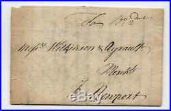 1759 Boston manuscript stampless to Newport RI 2dwt rate 45.7