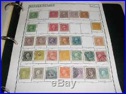 1847-1940 Group Of Old U. S. Stamps In Album, 540+ Used 1847-1940