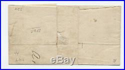 1848 Lockport NY #2 10 cent 1847 folded cover sheet margin single 5380.3