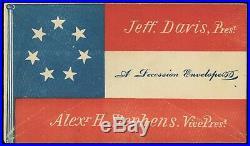 1861 Confederate Presidential Election CIVIL War Patriotic Envelope