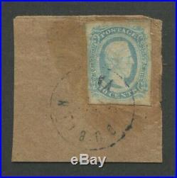 1863 Confederate States of America Stamp #10a Used Dublin Virginia Postal Cancel