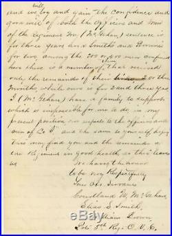 1864 CIVIL WAR 5TH OVC Deserters NASHVILLE TENN. MILITARY PRISON LETTER/COVER VG