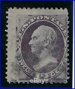 1870-71 U. S. Scott 140 12c dull violet Henry Clay withgrill used-CV $3600