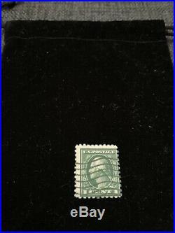 1912 1922 GREEN George Washington RARE One 1 Cent Stamp U. S. Postage U. S. A