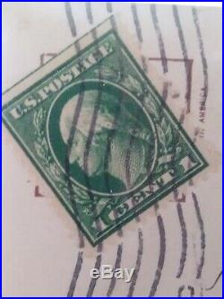 1912 GREEN George Washington One 1 Cent Stamp U. S. Postage One Side Uncut RARE
