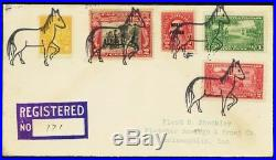 1930 Gray Horse, OKLA RARE Horse Fancy Cancel Registered Cover - Stuart Katz