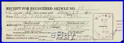 1930 Mason, LA UNLISTED Mason Fancy Cancel Registered Cover Stuart Katz