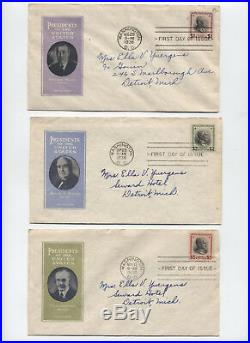 1938 Prexie FDC set 802-834 Ioor and Pavois cachets y3312