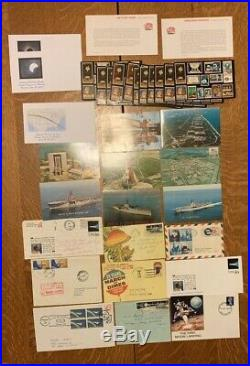 1960's 70's LOT OF SPACE COVERS POSTCARDS FDC's NASA & ASTROPHILATELIC ITEMS