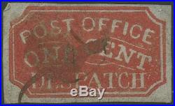 #1lb5 1¢ Red City Carrier Dept Baltimore, MD Used -rare- Ex-rumsey Wlm755