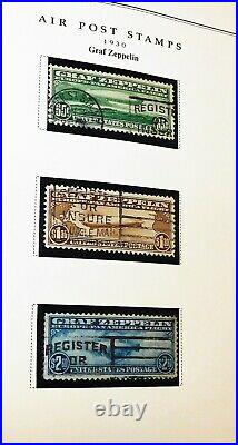 3 Graf Zepplin cancelled postally used 1930 stamps 65c-$1.30-$2.60 C13-15