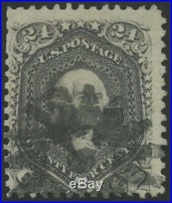 #78c BLACKISH VIOLET F-VF USED RARE SMALL FAULTS With PF CERT CV $20,000 WL9536