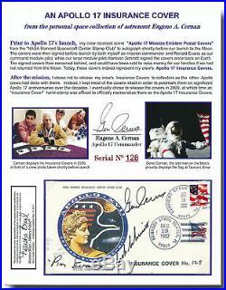 Apollo 17 official crew handsigned insurance cover ex-Gene Cernan