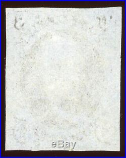 BEAUTIFUL US SCOTT #1 1847 5c Used 4 LARGE MARGINS Possibly Unused or Cleaned