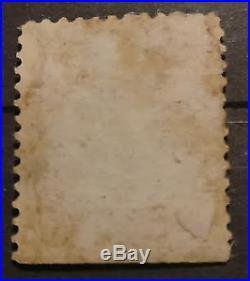 Benjamin Franklin 1902 1 cent, Green Line, Rare, used USA stamp