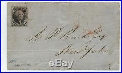 C1850 #2 10 cent 1847 Bangor ME cover 4 margin stamp corner crease 5380.5