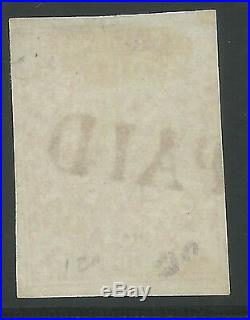 CSA Scott #62x2 Red New Orleans 2c Used Provisional Stamp PAID with PF Cert