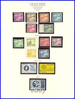 Canal Zone Collection on Scott Pages 1914 to 1978 Mint and Used Cat $2,350