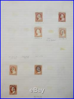 EDW1949SELL USA 1851 Scott #11-11A Collection of 365 Used varieties. Cat $5475