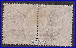 GB used abroad in SAN JUAN PORTO RICO C61 SG 126 10d deep red brown pair SUPERB