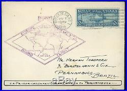 Gem Us Scott #c15 1930 $2.60 Zeppelin On Us Air Mail Cover First Pan-am Flight