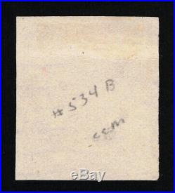 Genuine Scott #534b Used 1920 Carmine Type-vii Offset Printing Wavy Line Cancel