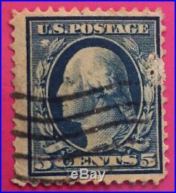 George Washington 5 Cents Blue used