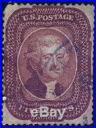 HERRICKSTAMP UNITED STATES Sc. # 28 1858 5¢ Jefferson. VG Used Neat Cancel