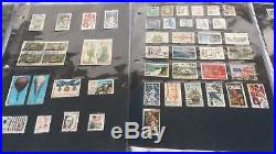 Huge Lot of Used U. S. STAMP COLLECTION All in Plastic Pages 587 Stamps 1-29 Cent