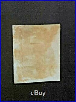 ITCEN 11 USA 1847 Scott#1 Franklin 5c Blue Grid cancel VF/XF Used CV$450