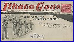 Ithaca Guns Used Advt Gun Cover Shooting Contest Rare Hv9354 Sr17a