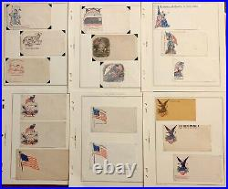 LOT OF 32 1860's Civil War Postal Covers Collection Both Union & CSA