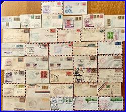 Lot of 1920's to 1950's First Flight Airmail Covers Cachets with Binder