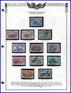 Lot of 50 U. S. Used Exposition Stamps on Pages Scott Range 230 404 #141538 X
