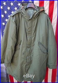 M1951 Fishtail Parka Size X-Large & Second pattern Liner Stamped Mod M-51 Parka