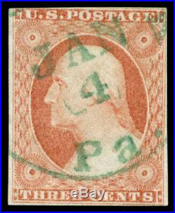 Momen US Stamps #11A Used GREEN Cancel VF