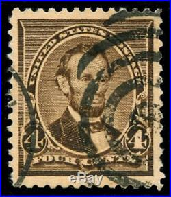 Momen US Stamps #222 Used PSE Graded XF-90J