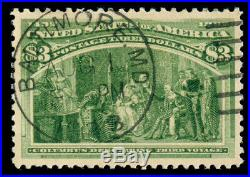 Momen Us Stamps #243 Used Pse Graded Cert Xf-sup 95