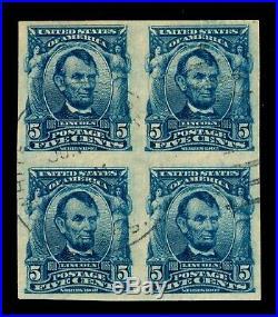 Momen Us Stamps #315 Used Block Xf Pf Cert