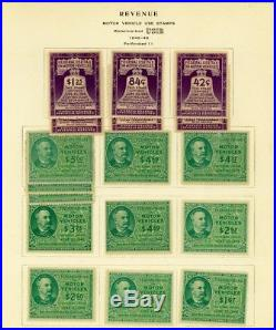 Motor Vehicle Use Stamp Collection, RV1//50, Mint & Used Cat $1700+ Stuart Katz