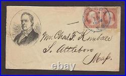 New Hampshire Nashua 1856 #11 Pair Buchanan Presidential Campaign Cover