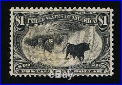 Outstanding Genuine Scott #292 Vf Used 1898 Black $1 Trans-mississippi Expo