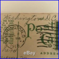 RARE conjoined 1917 US, 1c stamp, Used, George Washington