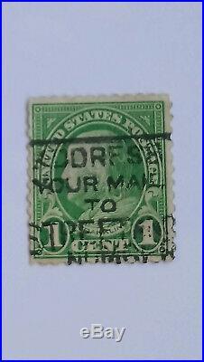 Rare 1 Cent Green Benjamin Franklin US Stamp Scott #594 or #596