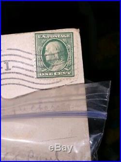 Rare One Cent Benjamin Franklin Stamp (Scott #594) 11 Perf