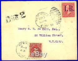 Rare Revenue Used As Postage Cover R155 & J39 Rare
